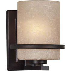 Forte Lighting 2404-01-32 1-Light Transitional Wall Sconce, Antique Bronze Finish with Umber Linen Glass Shade Forte Lighting http://smile.amazon.com/dp/B002MJ95M6/ref=cm_sw_r_pi_dp_fY2Wwb0CRQ9AF