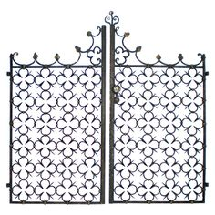 Iron Gates   From a unique collection of antique and modern doors and gates at https://www.1stdibs.com/furniture/building-garden/doors-gates/