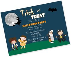 Halloween Party Invitation by MyPaperGardenLLC on Etsy, $1.10