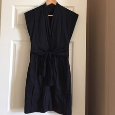 SALE BCBG Beautiful Black Dress Size 2 Gorgeous when on!  Button all the down from waist!  Only worn once! BCBGMaxAzria Dresses