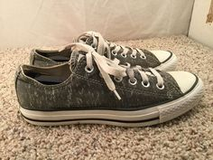 Women's Converse All Star Gray Chuck Taylor Low Top Fashion Cute Sneakers sz 8 #Converse #BoatShoes #Casual
