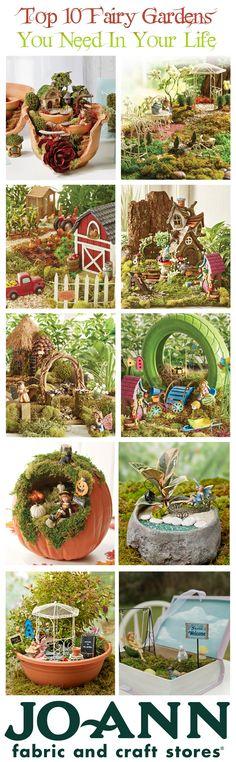 Top 10 fairy gardens that you need this Spring! | Fairy Garden tips and tricks | Pin now read later. Fairy Crafts, Garden Crafts, Garden Projects, Garden Art, Garden Kids, Diy Garden, Mini Fairy Garden, Fairy Garden Houses, Gnome Garden