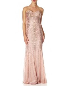b6a17622b2c2 Forever Unique Una Strapless Maxi Dress Mink