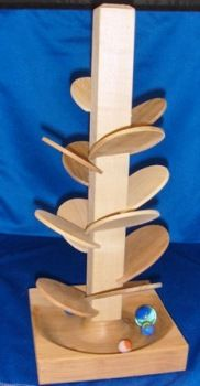 Table Top Marble Tree. Brillant wood version for those kids love marble runs...