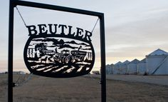 """Custom metal farm sign with hand drawn artwork. Laser cut from a single piece of 3/16"""" steel."""