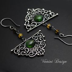 Evergreen-Fine/Sterling silver and tourmaline earrings