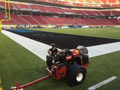 Quick-drying paint with Toro's Pro Force blowers for Super Bowl 50