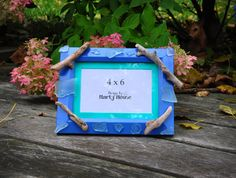 Beach Picture Frame/Driftwood Picture by Designsbymartymouse