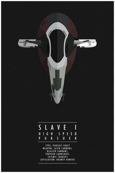 Minimalist Graphic Posters Of The Ships From 'Star Wars' - DesignTAXI.com