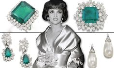 Gina Lollobrigida's pearl earrings sell for staggering at auction - smashing Liz Taylor's record of Gina Lollobrigida, Diamonds, Auction, Pearl Earrings, Celebs, Jewellery, Fashion, Pearl Studs, Celebrities