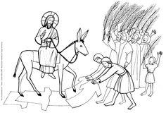Entrée trimphale de Jésus à Jérusalem (dessin)