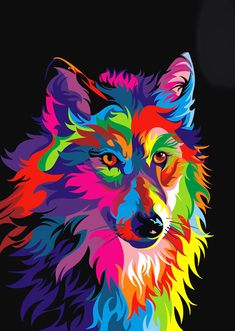 11.88US $  Wolf King animal painting pictures abstract art print on the canvas, canvas painting prints,wall Home decor poster painting of wine bottles painting paletteposter material - AliExpress
