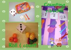 """Some great Math games for Pre-K/Kindergarten- I especially like the """"Dice and Ribbon"""" idea..."""