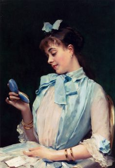 Portrait Of Aline Mason In Blue Raimundo de Madrazo y Garreta