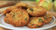 Crumbed Green Tomatoes - These wonderful Southern-fried green tomatoes make a great side dish for summer. Flour, egg, and breadcrumbs turn into a coating that sticks steadfastly to green tomato slices and becomes perfectly crisp and light when fried. It's hard to improve upon a tomato slice fried this way, but you might like to melt a slice of mozzarella cheese on top of each tomato round.  - http://aussietaste.recipes/breakfast/crumbed-green-tomatoes/  -   #recipe