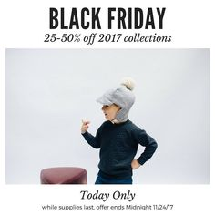 Code: BFLSH for 25% off everything on our site for the next 24 hours! You CAN use this code to stack savings on already reduced prices // #littlesunhat #blackfriday #blackfridaydeals #blackfridaysale #microfashion #babyhat #bonnet