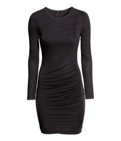 draped little black dress