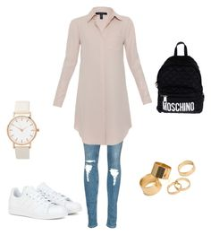 """Untitled #1"" by medihica-karic ❤ liked on Polyvore featuring adidas, Xander, Moschino, Pieces, women's clothing, women, female, woman, misses and juniors"