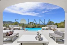 RESERVED Large stylish villa of contemporary style recently renovated with fantastic views across the sea and the top of Es Vedra as well as beautiful sunsets. Beautiful Sunset, Contemporary Style, Ibiza, Villa, Real Estate, Canning, Luxury, Outdoor Decor, Home Decor