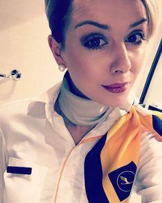 #aviationglamourfashion Secret In Lace, Airline Uniforms, Silk Neck Scarf, Flight Attendant Life, Intelligent Women, Girls Uniforms, Cabin Crew, Neck Scarves, Beautiful Celebrities