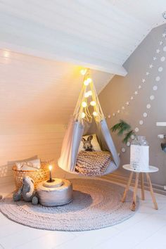 Kidsroom, Hanging Chair, Toddler Bed, House Styles, Interior, Furniture, Home Decor, Teepees, Bedroom Kids