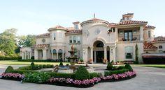 Mediterranean French style Luxury Villa blueprint
