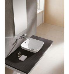 Lavabo Bathco Tokio 42x42 cm porcelana blanco Lavabo Bathco Tokio de porcelana, color blanco, con rebosadero. Instalación de semi encastre. Medidas 420 x 420 cm EUR 126.57