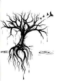 tattoos tree tattoo designs tree of life tattoos dead tree tattoo tree . Side Tattoos, Trendy Tattoos, Tattoos For Women, Fox Tattoos, Tatoos, Tattoo Life, Roots Tattoo, Raven Tattoo, Arm Tattoo