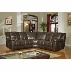 Costco: Fullerton Reclining Leather Sectional