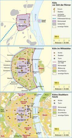 Maps of Koln through the ages