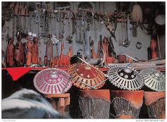 ETHIOPIE-Ethiopia Handicrafts in ADDIS ABABA´S new market (Photo Bernheim   carte vierge  (scan recto-verso) FRCR9