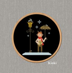 Cross Stitch Pattern Tumnus from Narnia Instant by TinyNeedle, $5.00