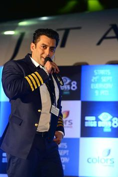 """Actor Salman Khan Friday launched the new theme of """"Bigg Boss"""" season which will have an aviation theme. Salman will be seen as the captain and wi. Sultan Salman Khan, Salman Khan Wallpapers, Salman Khan Photo, The Big Boss, King Of Hearts, Season 8, Bollywood Actors, Superstar, To Go"""