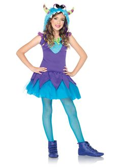 cross eyed charlie monster girls dress by leg avenue - Halloween Costume Monster