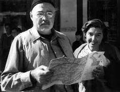 Fernanda Pivano 1917-2009 italian traslator and writer, here with Ernest Hemingway