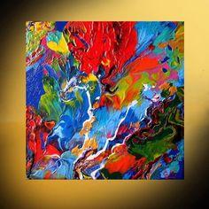Modern Abstract Art original painting CANVAS Acrylic Canvas (No frame) #Miniature