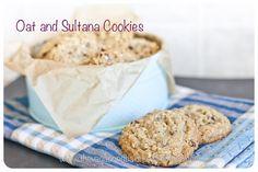 Oat and Sultana Cookies - Vagabond Baker Delicious Cookies, Oatmeal Recipes, Oatmeal Cookies, Allrecipes, Baking, Breakfast, Desserts, Food, Oatmeal Raisin Cookies