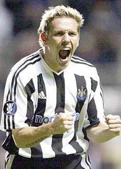 Craig Bellamy (striker) 2001-05. League apps 93. Gls 28 Sunderland Football, Newcastle United Football, St James' Park, Football Players, Superstar, Nostalgia, Miniature Schnauzer, Sports, Army