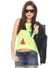 """""""Faith Faith Faith"""" shirt from Forever 21 ♥ (Emily has this, my daughter! It's adorable!)"""