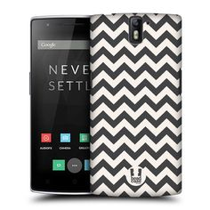 Amazon.com: Head Case Designs Grey Chevron Pattern Protective Snap-on Hard Back Case Cover for OnePlus One: Cell Phones & Accessories