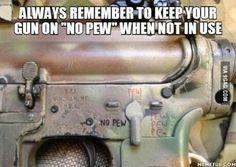 No pew ! I repeat no pew !