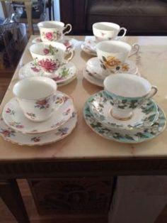 gumtree Vintage High Tea, Teas 6, Gladstone, Fine China, Antique Art, Tea Cups, Decorative Plates, Antiques, Home Decor