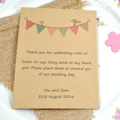 The 90 best Seed Packet Wedding Favours images on Pinterest | Autumn ...