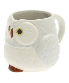 Gray Owl Medium Mug
