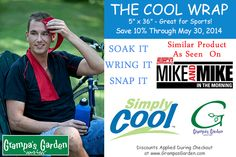 Stay Cool and Save 10% on Simply Cool products from: GrampasGarden.com Similar Products Featured on ESPN Radio's Mike and Mike Show. Simply Cool: http://www.grampasgarden.com/simply-cool.html Sale Ends Friday May 30, 2014 #cool #relief #sports #sale #hot #summer