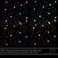 PNG Colourful Glow Stars Pack By Julee San by JSSanDA.deviantart.com on @deviantART