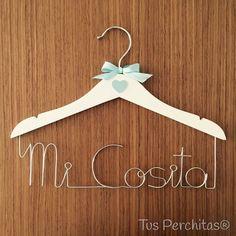 Percha infantil Mi Cosita Clothes Hanger, Personalized Hangers, Personalized Gifts, Coat Hanger, Clothes Hangers, Clothes Racks