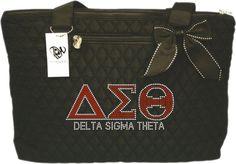 Beautiful Bling Delta Sigma Theta Sorority Rhinestone Med Tote   #Handmade #TotesShoppers
