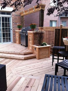 20 Insanely Cool Multi Level Deck Ideas For Your Home! 2019 Best Multi Level Deck Design Ideas For Your Home! The post 20 Insanely Cool Multi Level Deck Ideas For Your Home! 2019 appeared first on Deck ideas. Backyard Kitchen, Modern Backyard, Backyard Patio, Backyard Ideas, Patio Steps, Diy Patio, Patio Deck Designs, Patio Design, Deck Landscaping