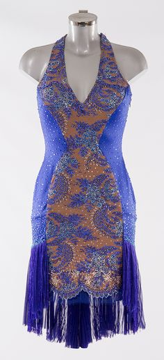 As worn by Jennifer Gibney on the Strictly Come Dancing 2014 Launch Show. Designed by Vicky Gill and produced by DSI London